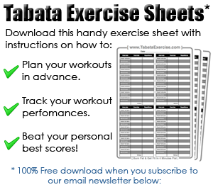 Tabata Interval Training Tabata Workouts Tabata Timer